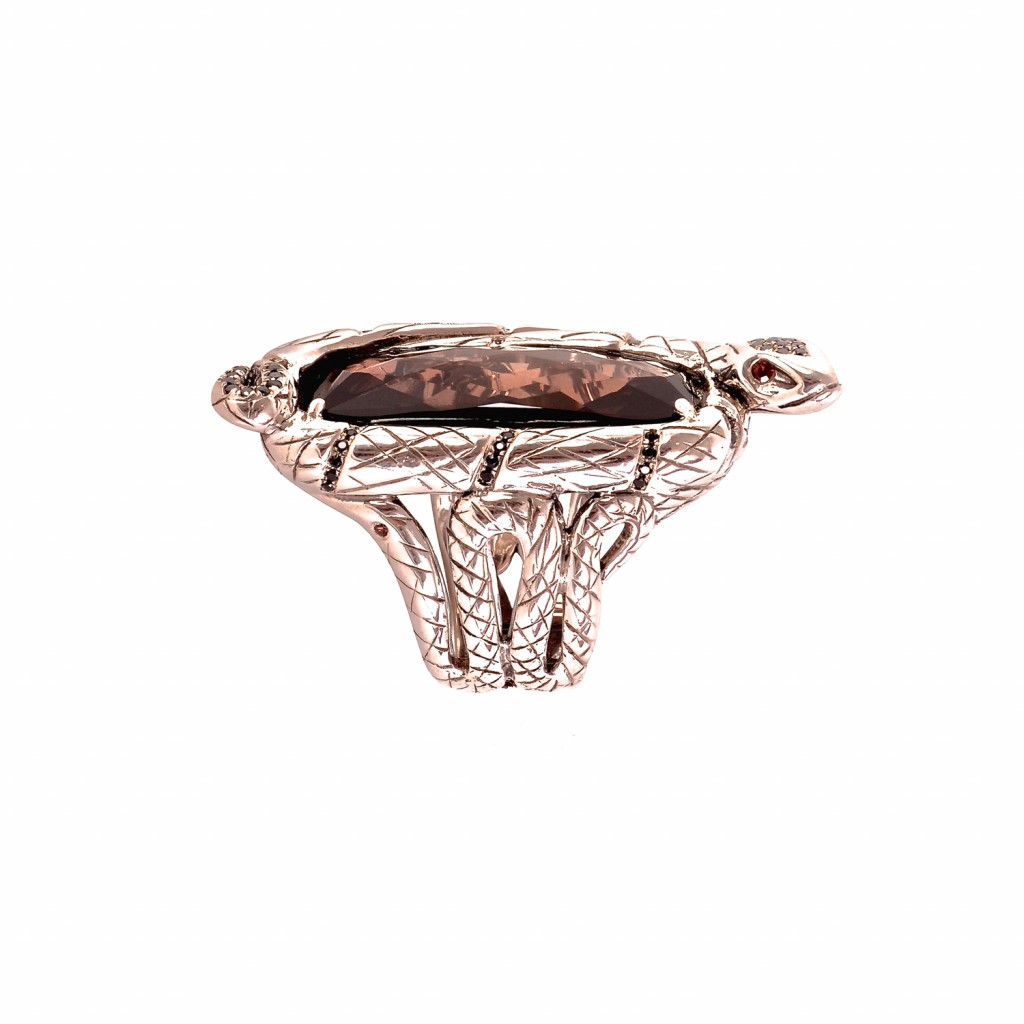 Serpentine Ring by Vara Of London