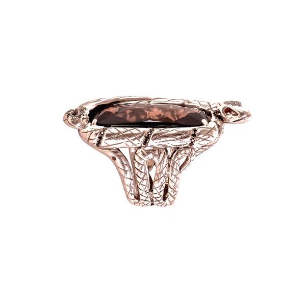 Serpentine Ring by Vara Of London