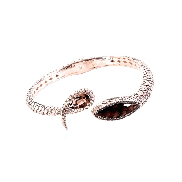 Serpentine Open Bangle by Vara Of London