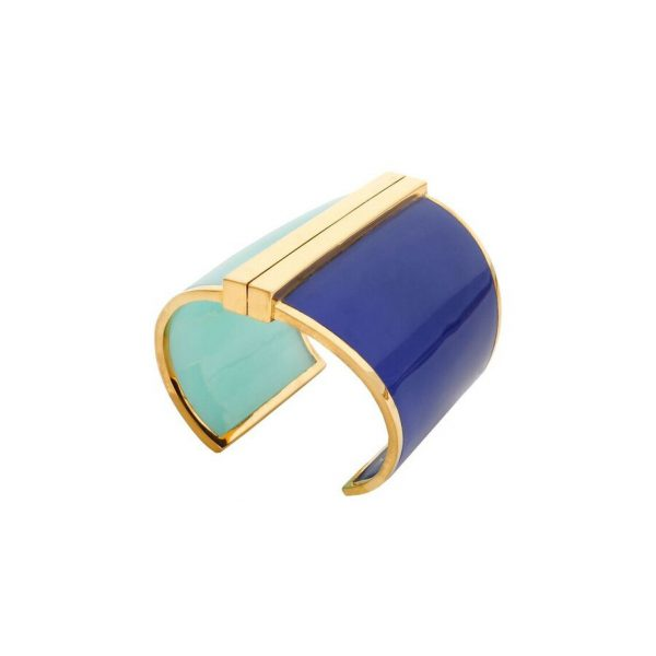 Barbarella Cuff in Lapis & Aqua by Bex Rox