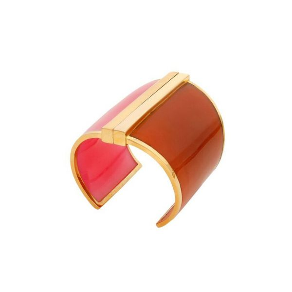Barbarella Cuff in Pink & Orange by Bex Rox