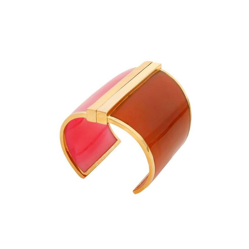 Barbarella Cuff in Pink & Orange
