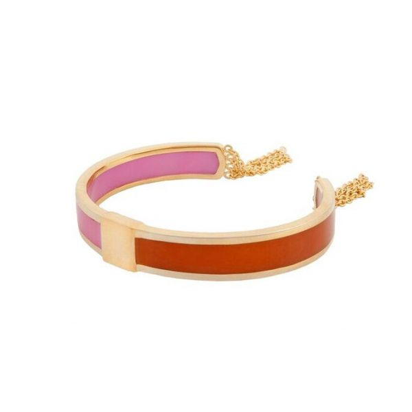 Celeste Friendships Bracelet in Pink & Orange by Bex Rox