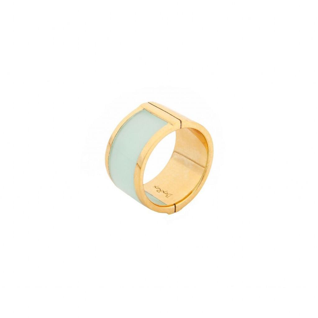 Large Celeste Ring in Aqua
