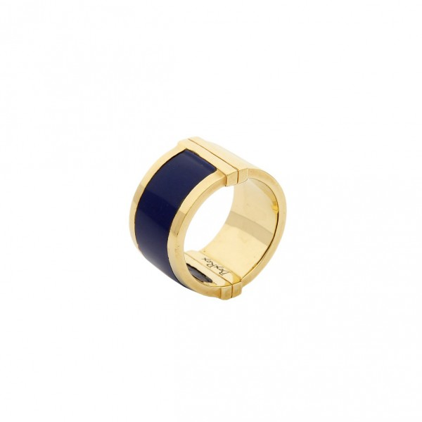 Large Celeste Ring in Lapis