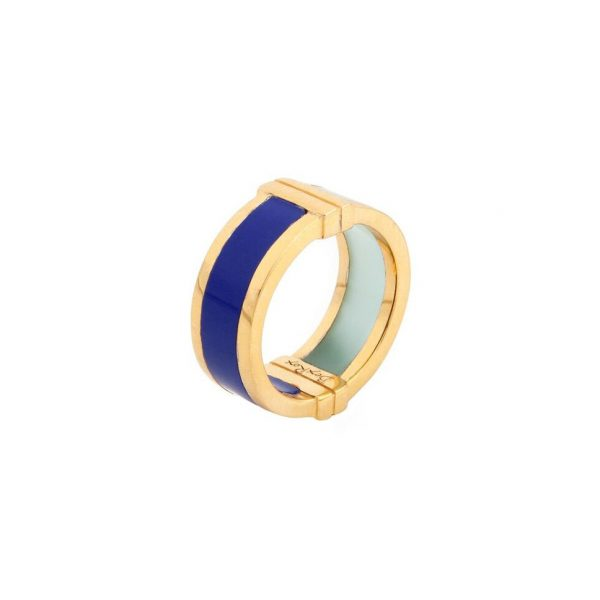 Celeste Ring in Lapis & Aqua