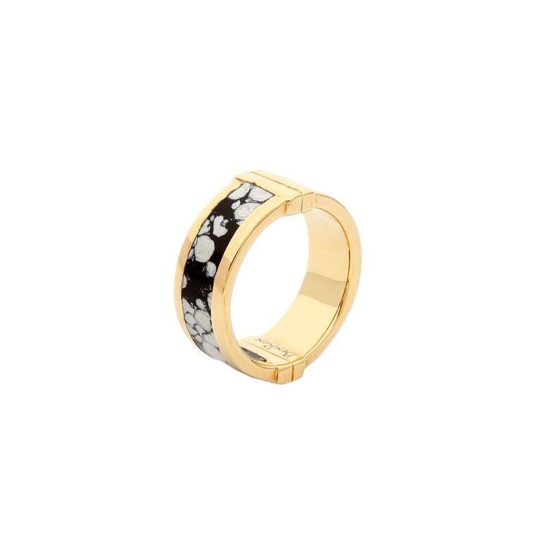 Celeste Ring in Snowflake Agate