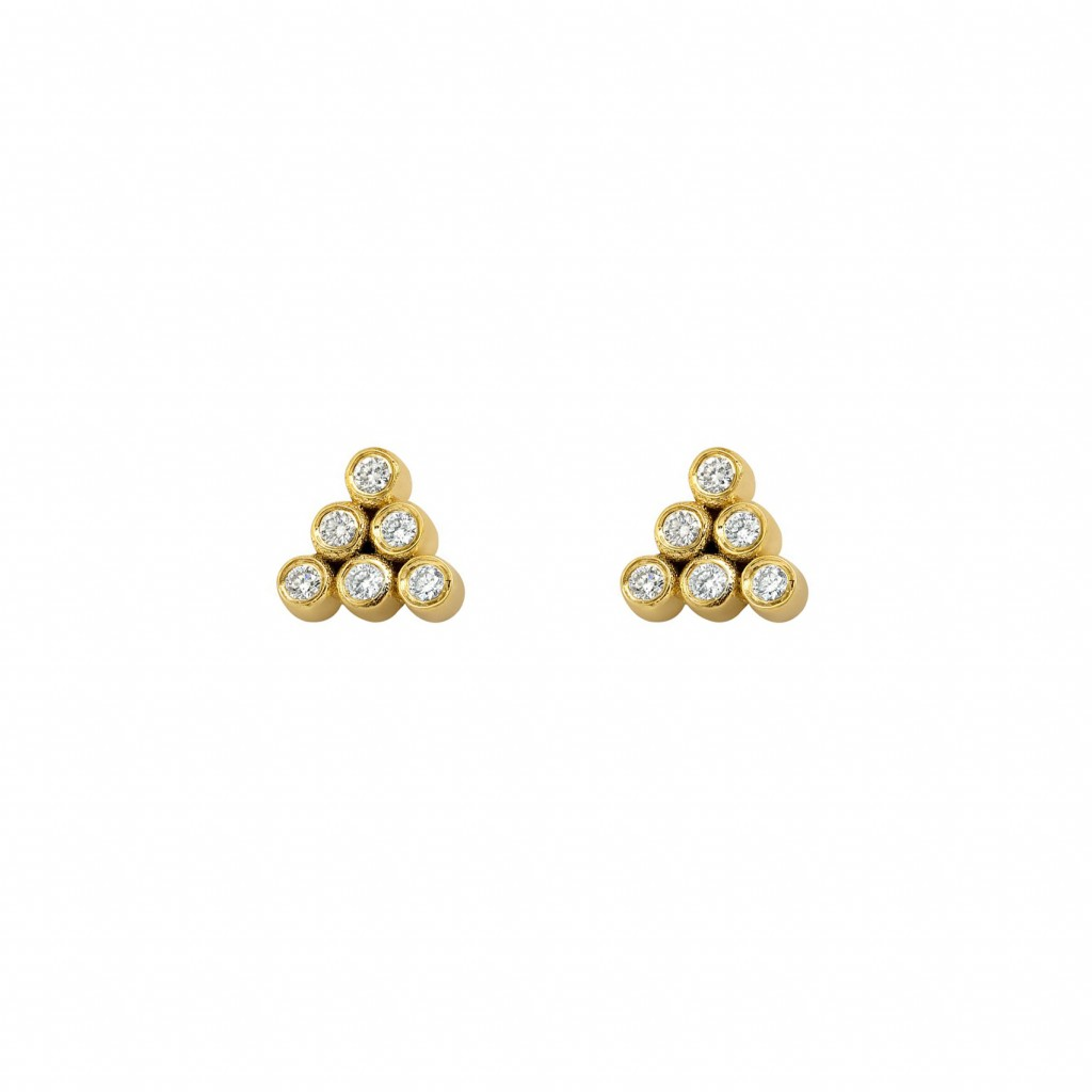 Mara Diamond Studs by GFG Jewellery