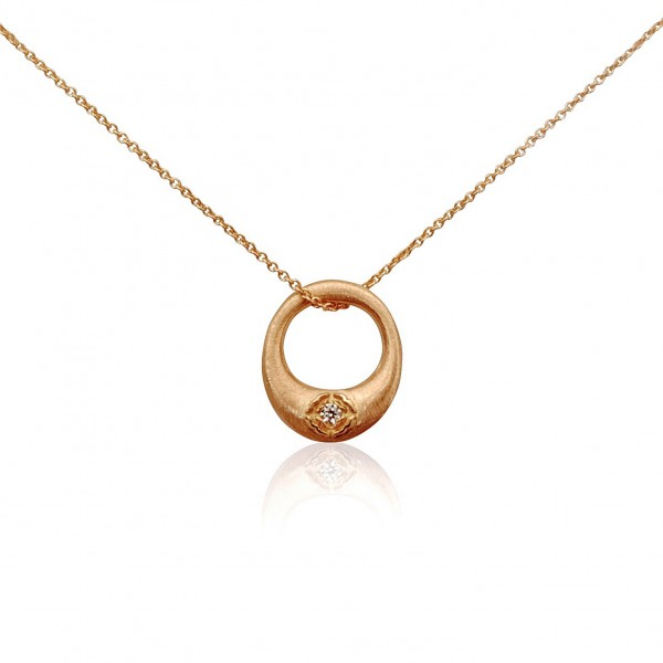 Rosy Zen Cercle Necklace by Luca Jouel