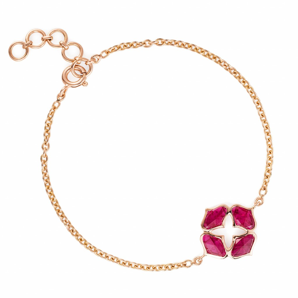 Lattice Bracelet in Ruby by Gyan Jewels