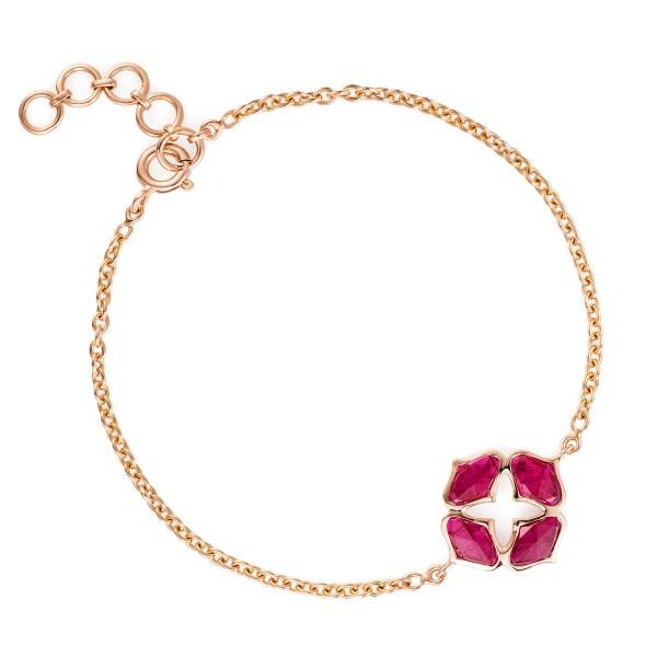 Lattice Bracelet in Ruby by Gyan Jewels