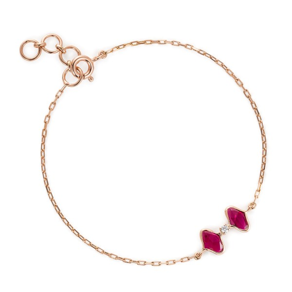 Lattice Dual Bracelet in Ruby by Gyan Jewels