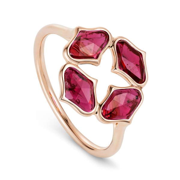 Lattice Ring in Ruby by Gyan Jewels