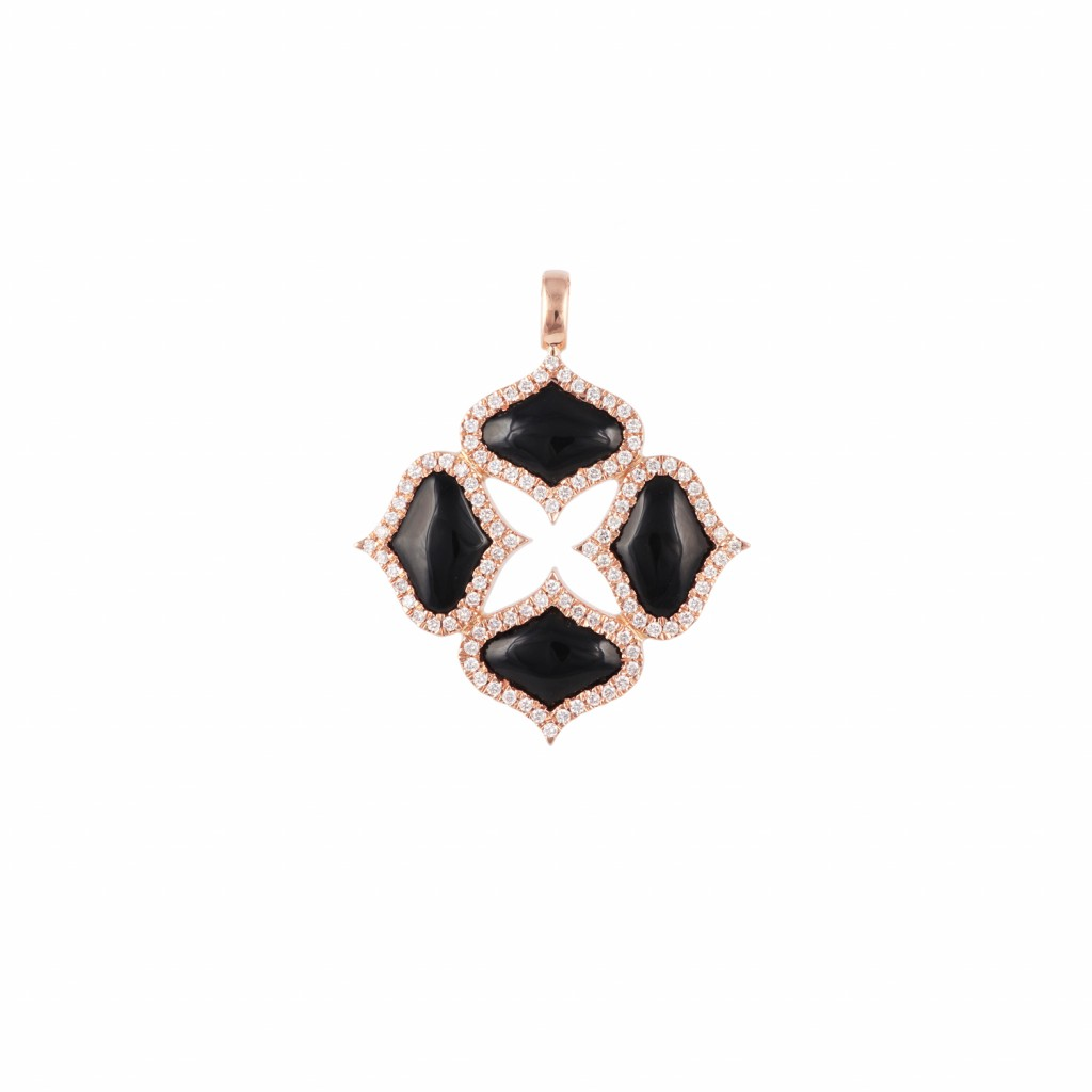Onyx Pendant (Without Chain) by Gyan Jewels