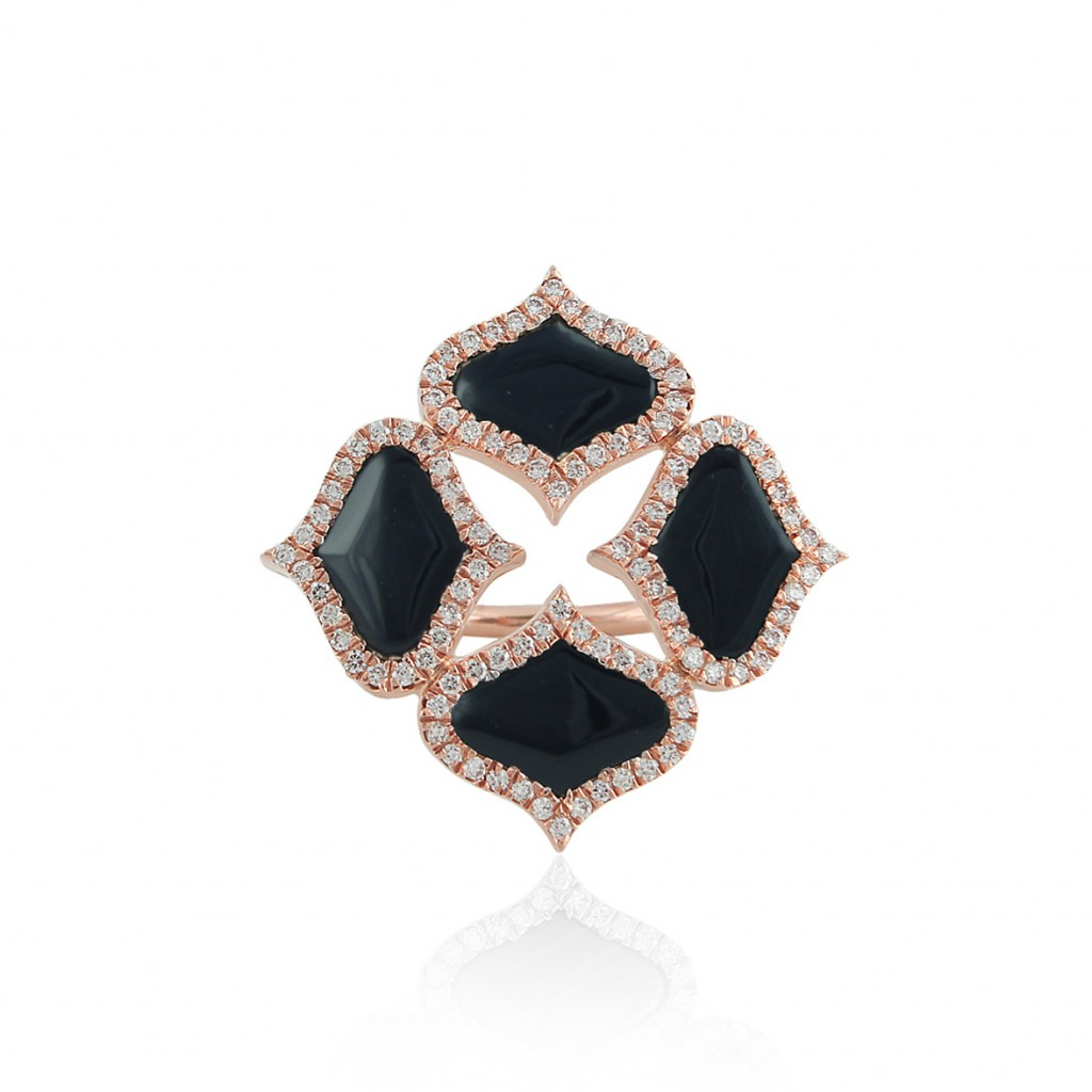Lattice Ring in Onyx by Gyan Jewels
