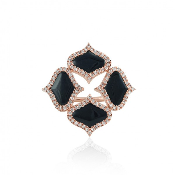 Lattice Ring in Onyx