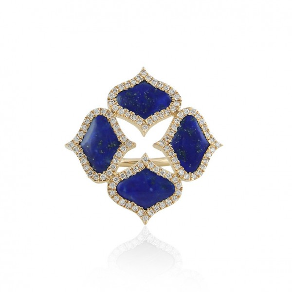 Lattice Ring in Lapis Lazuli by Gyan Jewels