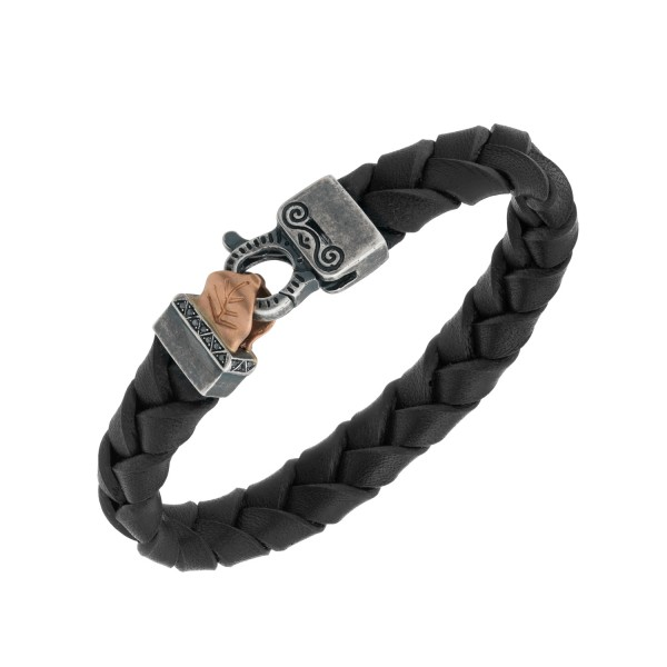 Leather Bracelet with Rose Gold by Marco Dal Maso