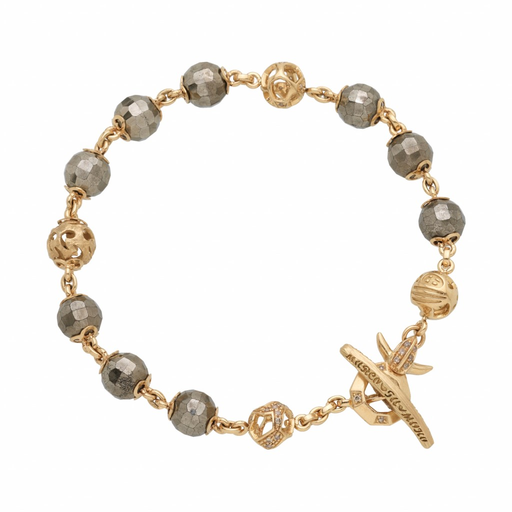 Fu 8 Bracelet in Yellow Gold by Marco Dal Maso