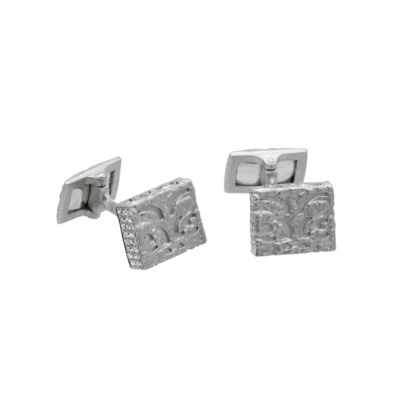 Warrior Cufflinks in White Gold