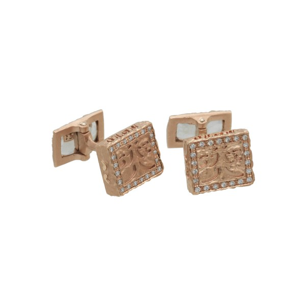 Warrior Cufflinks in Rose Gold