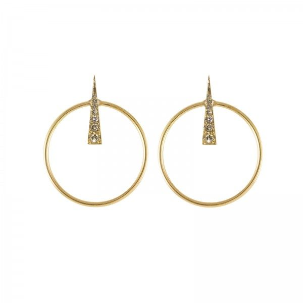 Spark Earrings with Large Orbit Multiplier by Daou Jewellery