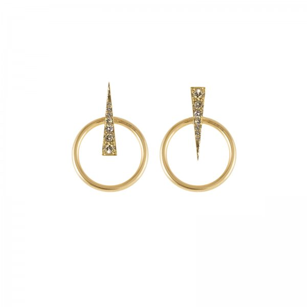 Spark Earrings with Small Orbit Multiplier by Daou Jewellery