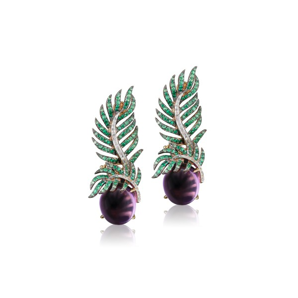 Palm Statement Earrings by Deema