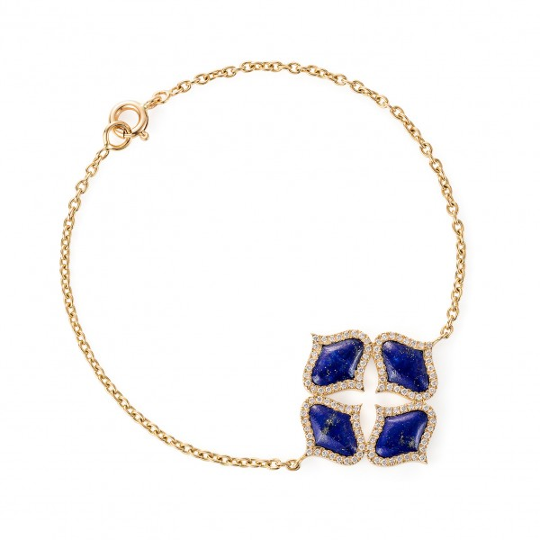 Lattice Bracelet in Lapis Lazuli by Gyan Jewels