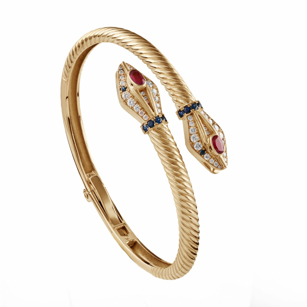 Snake Bangle by Azza Fahmy
