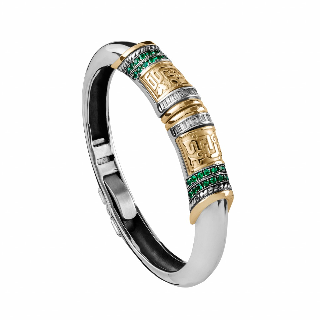 Stackable Calligraphy Bangle by Azza Fahmy