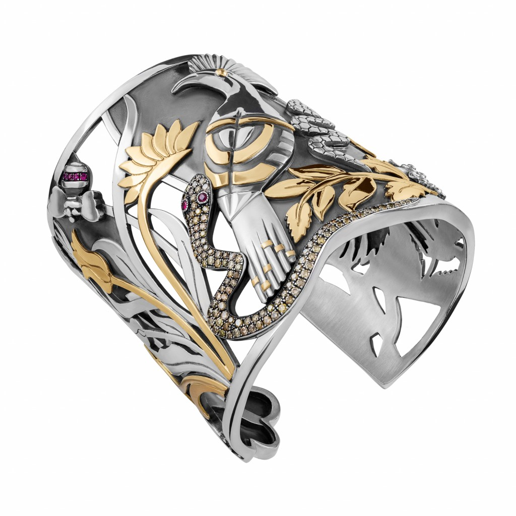 The Jungle Cuff by Azza Fahmy