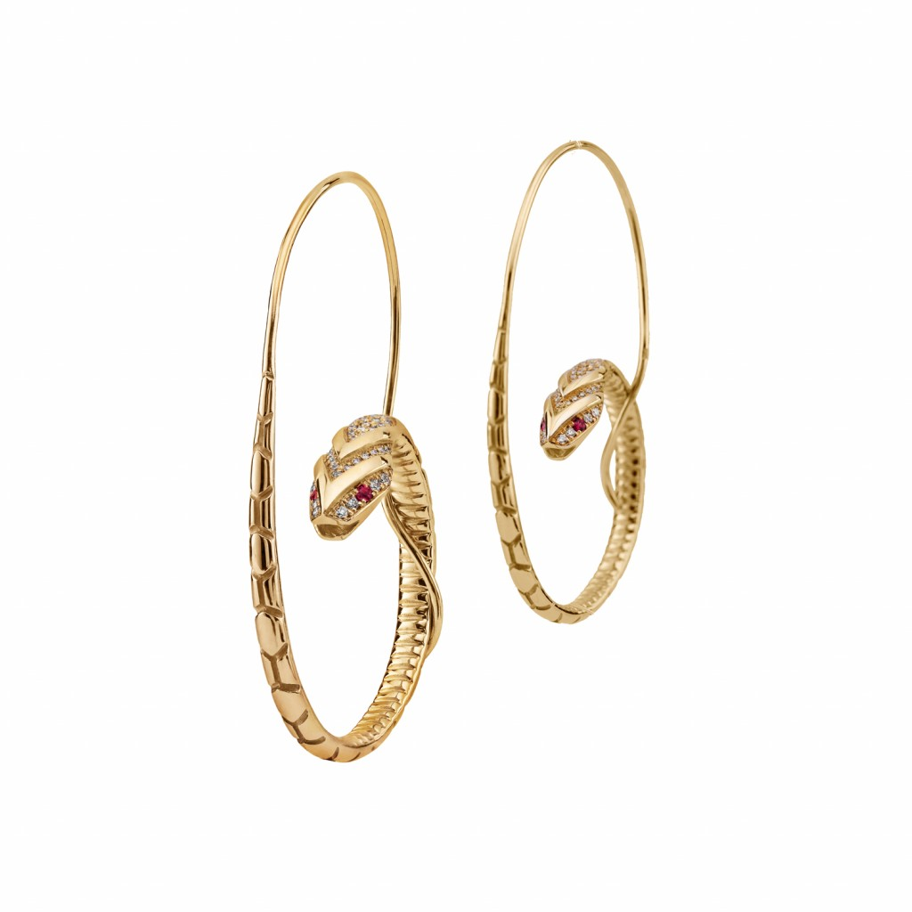 The Snake Hoop Earrings by Azza Fahmy