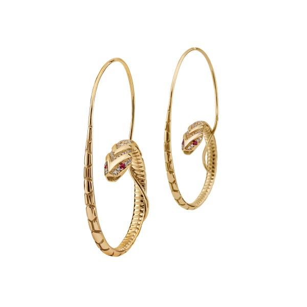 The Snake Hoop Earrings by Azza Fahmy