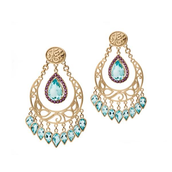 Happiness Earrings by Azza Fahmy