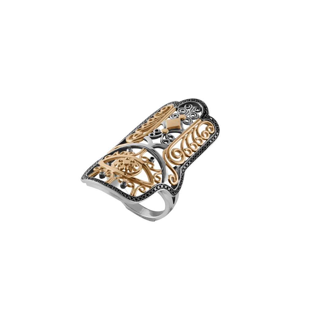 Hand of Fatima Ring by Azza Fahmy