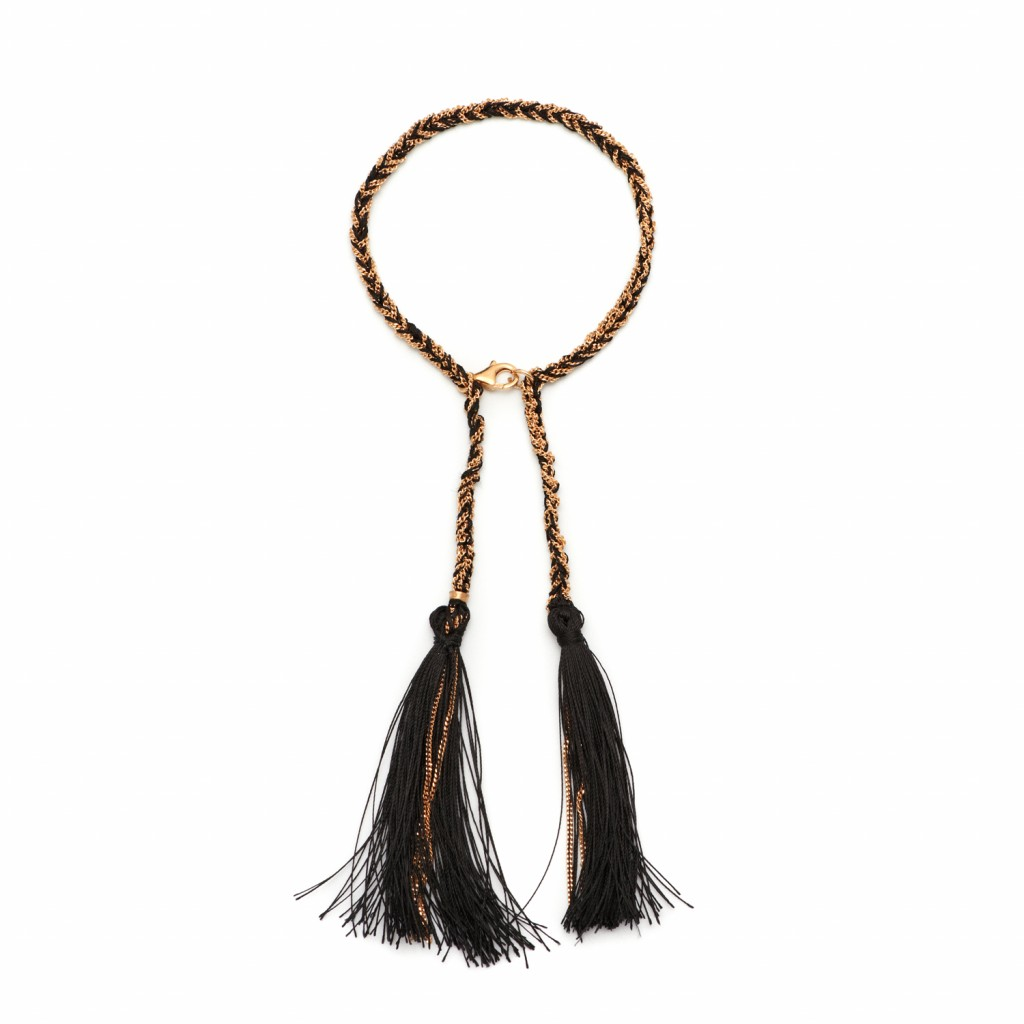 Tassel Bracelet in Black by Assya