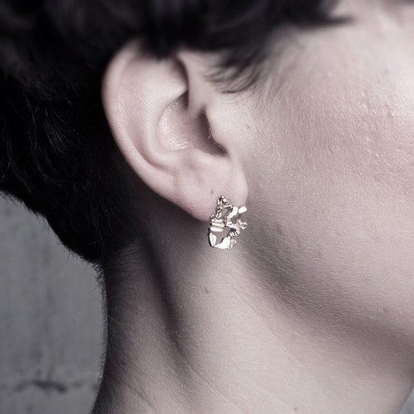 Segment Earrings by Ellis Mhairi Cameron