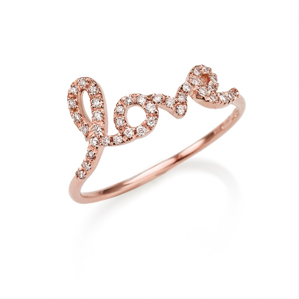 Bespoke 6 Letter Ring by Assya
