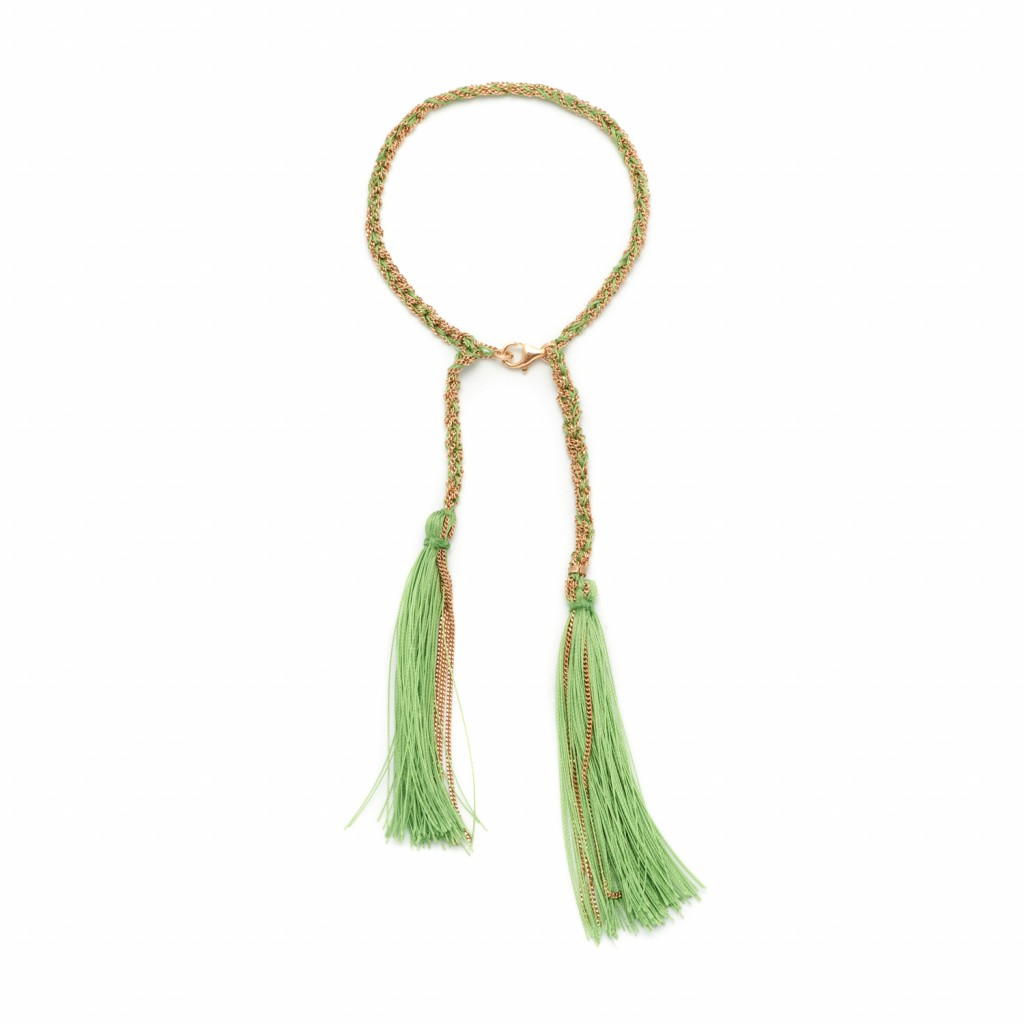 Tassel Bracelet in Green by Assya