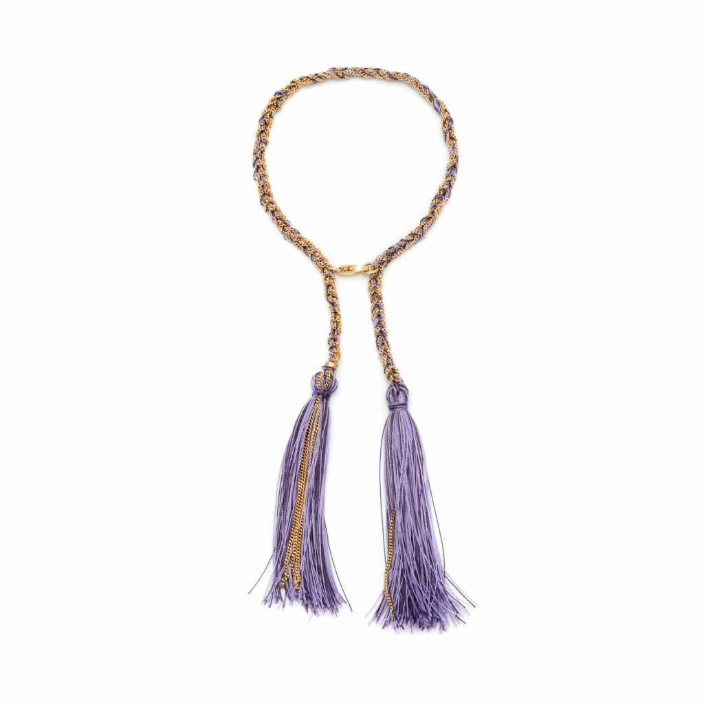 Tassel Bracelet in Purple