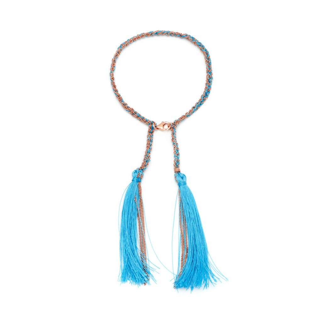 Tassel Bracelet in Blue