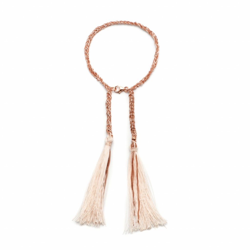 Tassel Bracelet in White by Assya