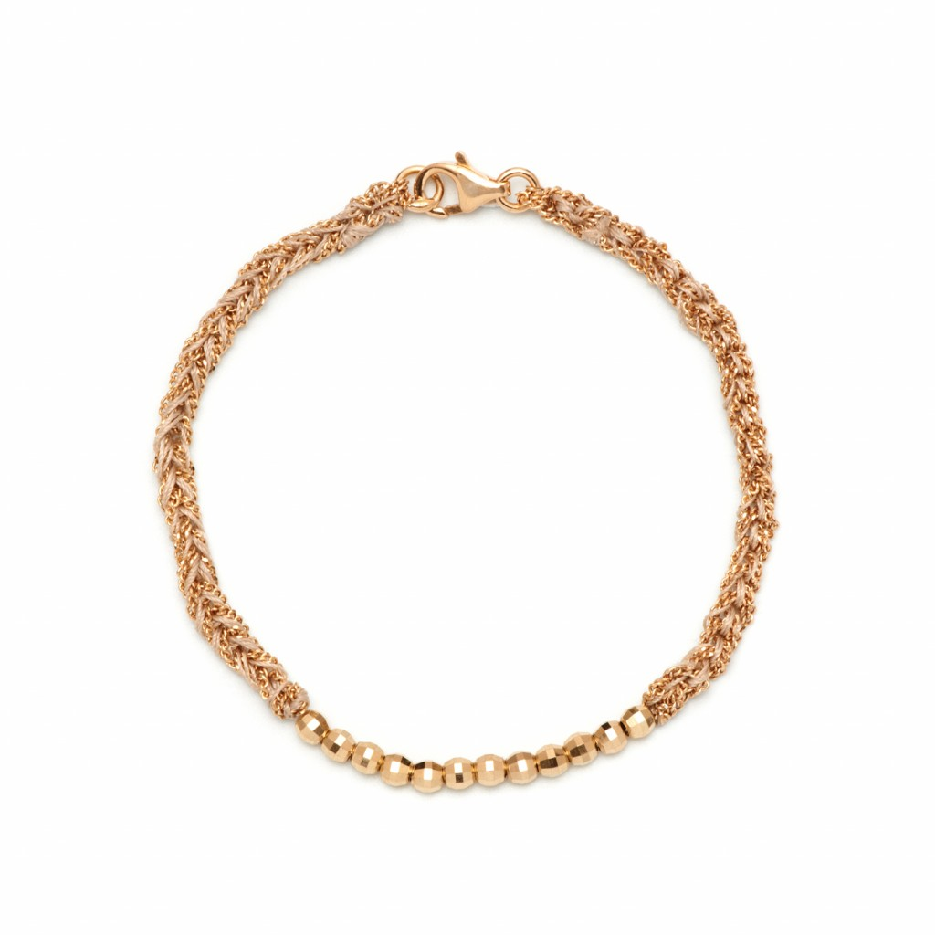 Beaded Bracelet in White by Assya