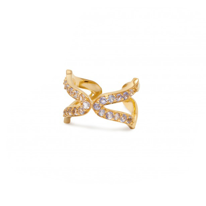 Oriental Ear Cuffs in Yellow Gold by Assya