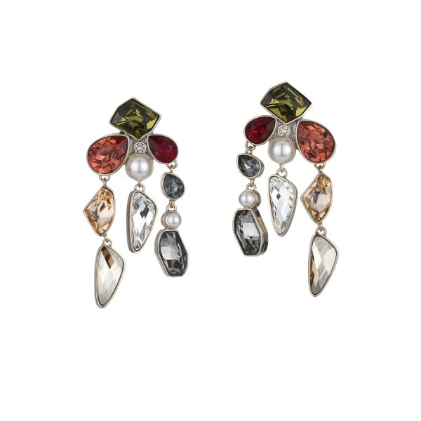 Mosaic Drop Clip Earrings by Atelier Swarovski