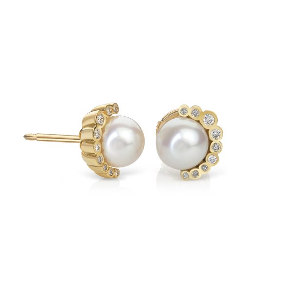 Aditi Pearl Earrings by Flora Bhattachary