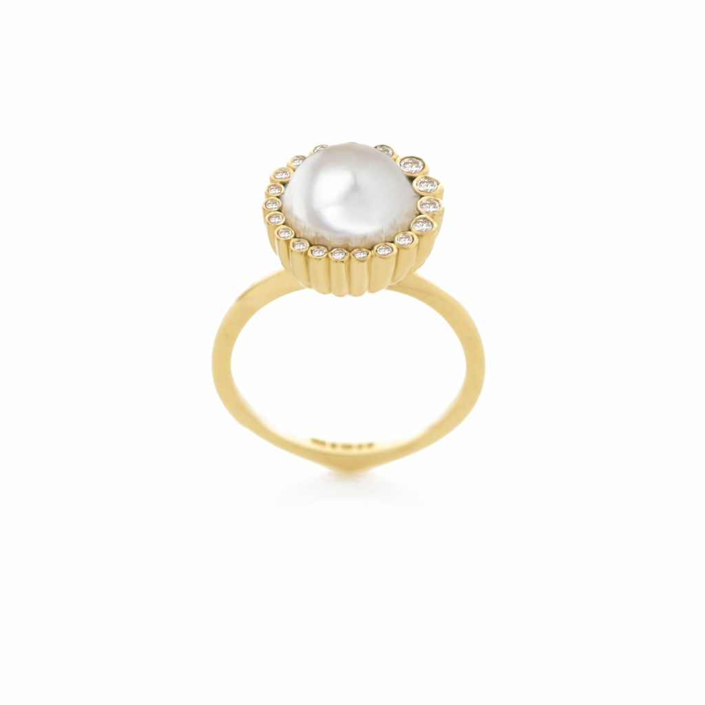 Aditi Pearl Ring by Flora Bhattachary