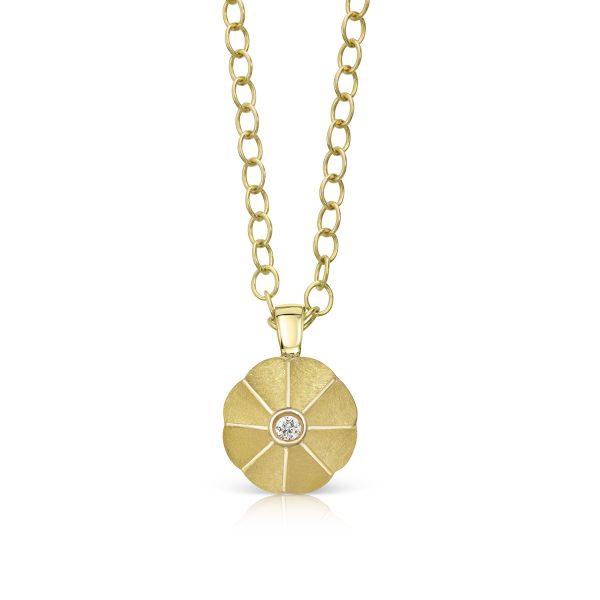 Aditi Lotus Drop Pendant by Flora Bhattachary