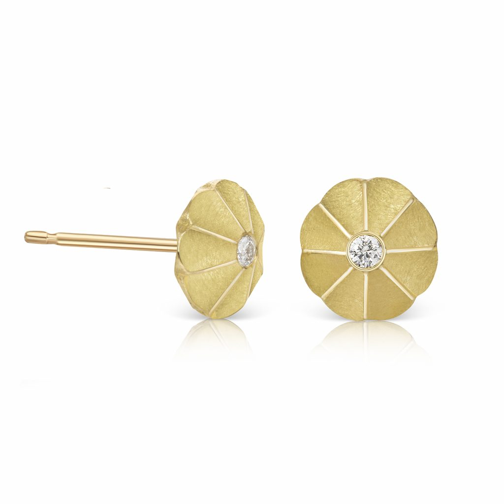 Aditi Lotus Drop Studs